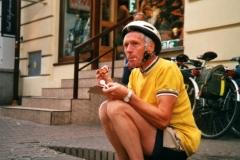 Enjoying a cream cake in Zakopane
