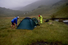 Camping by Inverie River