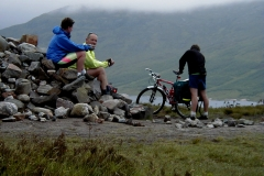 Cairn at the top of the Glen Garry road