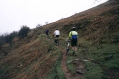 Climbing to Lord Hereford's Knob