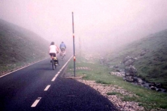 The road up Great Dun Fell is the highest tarmac road in England