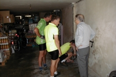 The hotel owner helps us to find a cycle shop