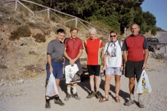 About the walk the Samarian Gorge - Bob, Roger, Bob, Sheila and Terry