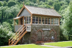 Signal box on the Wye Valley Railway