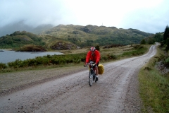 Bob near Glenfinnan on the track to Polloch