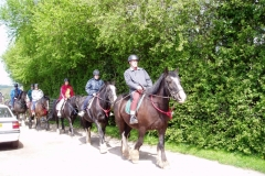 Some of the group went pony trekking...