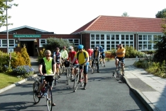 Leaving Bulkington Village Hall