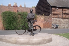 Edward Elgar by Hereford Cathedral