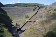 Ski jump overflow on Llyn Brianne