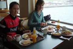 Breakfast before setting off