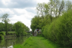 Crossing disused canal arm at Cathiron, Oxford Canal