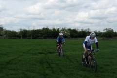 Lowri and Dave between Lilbourne and Shenley Farm