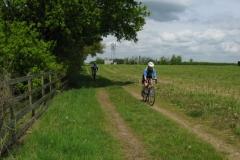 Lowri and Dave near Haythog Farm, Crick
