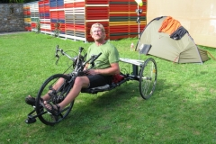 Disabled cyclist at Landeck campsite