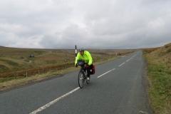 Tony finishing the climb from Allenheads