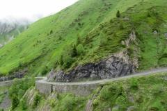 Lew descending the Col d'Aubisque