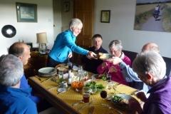 Pauline prepared a splendid pre-tour banquet