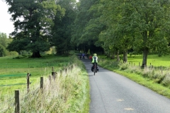 The team on the road near Itchen Abbas