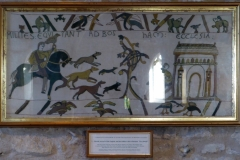 A copy of a piece of the Bayeux Tapestry, Bosham Church