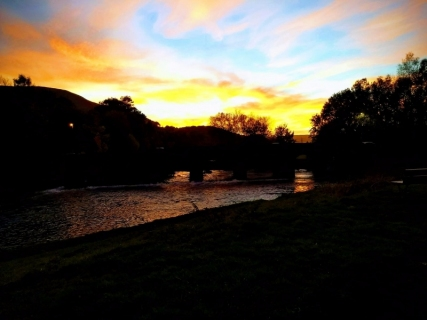 Sunset over Abergavenny