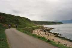 The road from the ferry on a raised beach