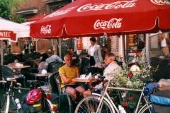 Enjoying a coffee in Krakow