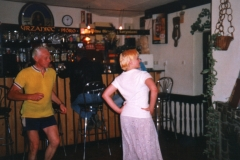 Bob can never resist the opportunity for a dance