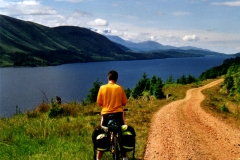 The track on the west side of Loch Lochy