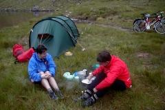 Camping beside Lochan a Mhaim