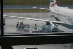 Bikes being loaded onto the plane