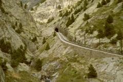 Narrow gauge railway from Ribes de Freser to Nuria