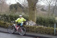 Jo with donkeys in Millers Dale