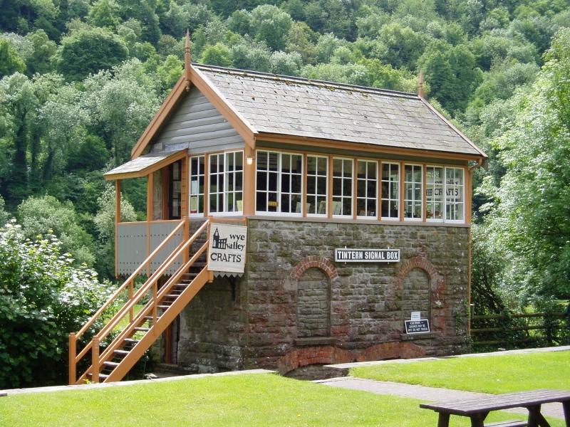 Signal box on the Wye Valley Railway