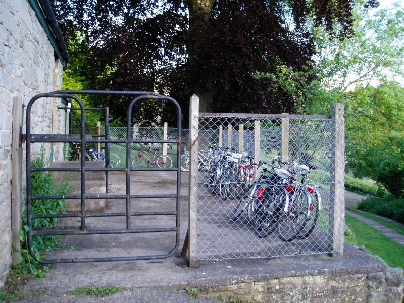 Plenty of bikes at the hostel