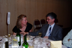 Sheila and Kevin at the HQ AGM Dinner