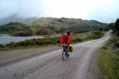 Bob near Glenfinnan on the track to Polloch
