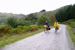 Sheila and Peter on the track to Polloch