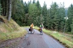 Sheila and Bob climbing away from Loch Doilet
