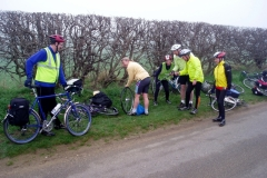 Punctures are a good spectator sport