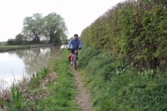 Kevin on the Oxford Canal near Stockton