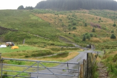 Forest road and the way to the Elan Valley