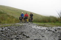 Mark, Roger and Bob on the unmaintained section of road