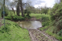 A ford with no alternative bridge on the River Tapster near Lowsonford