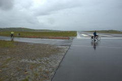 South to Sumburgh Head took us over the airport's runway