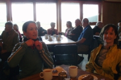The WI of Easter Quarff provided a welcome break from the rain