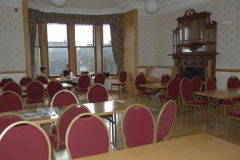The palatial dining room in the Youth Hostel