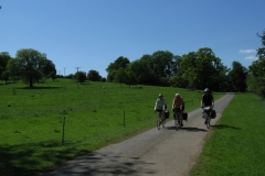 Riding into Launde Abbey