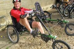 Bob tries out a new bike