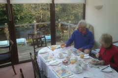 Breakfast in the conservatory in Tavistock