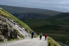 Climbing up to Claerwen Reservoir